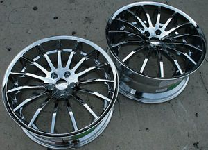 "Giovanna Martuni 22"" Chrome Rims Wheels sc400 Stag"