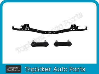97 04 Ford F150 F250 Styleside Rear Step Bumper Chrome Reinforce Bar Bracket 4pc