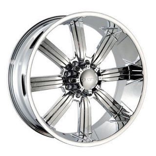 "24"" Dcenti 903 Chrome Wheels 8 Lug Rims Hummer H2 GMC Chevy 2500 22 26 20 28"