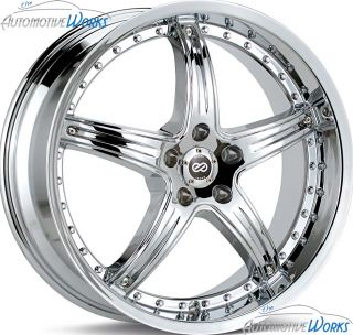 18x8 Enkei LS 5 5x112 50mm Chrome Rims Wheels inch 18""
