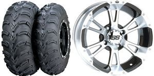 "Honda Foreman 400 450 500 Rubicon 500 ITP SS112 Wheels 25"" Mud Lite Tires Kit"