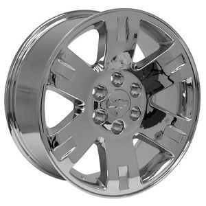 "20"" 2013 Style Chrome Chevy Silverado Suburban Tahoe Avalanche Wheels Rims"