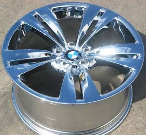 "20"" BMW 535i 550i GT Style 316 Factory Chrome Wheel Rim 71378 1 Single Rear"