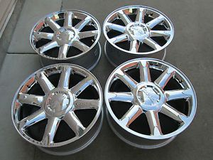 "20"" GMC Yukon Denali Chevy Tahoe Silverado Factory Chrome 2013 Wheels Rims"