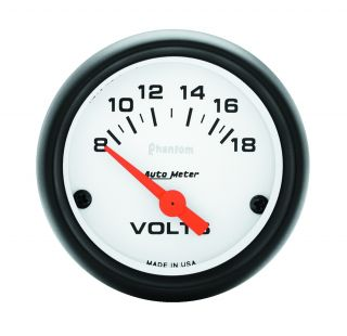 Auto Meter 5791 Phantom Electric Voltmeter Gauge