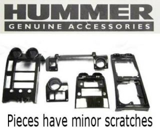Hummer H2 Console Dash Kit Replaces 17801235 No Vents Carbon Fiber Style