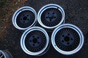 Enkei 14x6 BMW Wheels Bavaria CS E28 Polished Lip Black Center Clasic