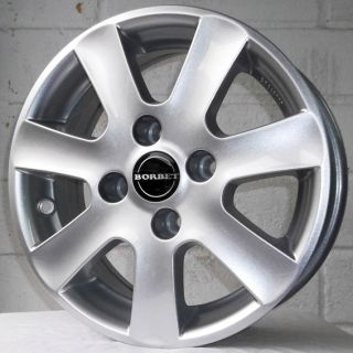 about 14 CITROEN XSARA 97 01 BORBET CA SILVER ALLOY WHEELS 4x108