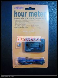 Inductive Hour Meter for Motorcycle ATV Snowmobile Boat Honda KTM Yama