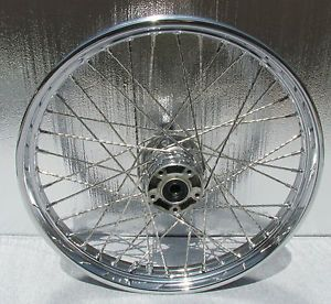 "Harley Davidson 21 inch Spoke Chrome Softail Wheel Rim 21"" Heritage Fatboy"
