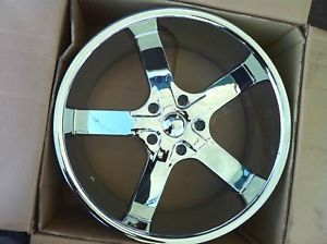"24"" U2 55 Chrome Rims 5x115 Tires Chrysler 300 Dodge Magnum Charger Challenger"