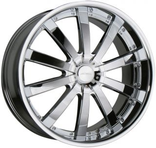 "22"" Ace Executive Chrome Staggered Wheels Rims 300C Charger Magnum Challenger"