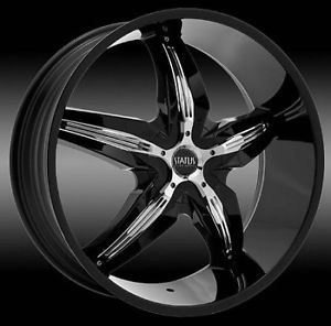 "22"" 24"" Chrome Center Cap Rims Wheels Status 802"