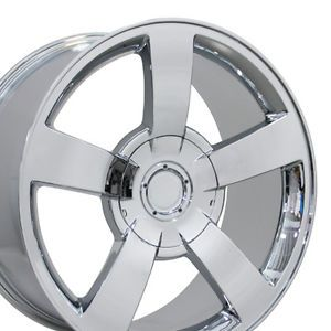 "Set of 4 22"" Chevy Silverado SS Replica Chrome Alloy Wheels Rims 22x10 New"