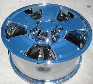 "New 17"" Factory Toyota Tacoma 4Runner Chrome Wheels Rims Sequoia Tundra Set of 4"