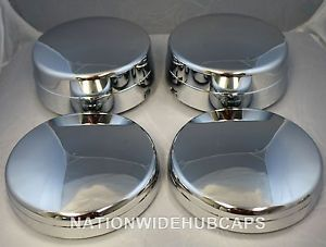 "4 RAM 3500 Dually 17"" Chrome Dual Wheel Center Hub Caps Lug Covers Simulators"