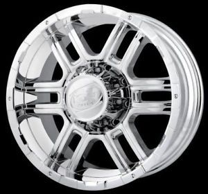 "20"" ion 179 Wheels Rims Chrome Ford F250 F350 Excursion"