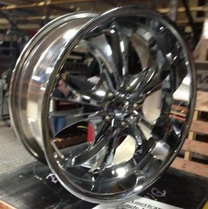 "20"" Chrome Boss 304 Wheels Rims 5x115 Dodge Challenger Charger Chrysler 300"