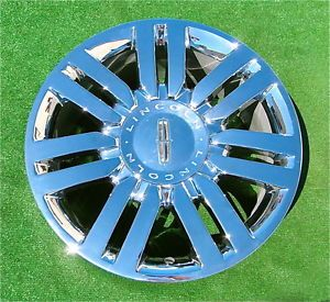 Set of 4 New Genuine Factory Chrome Lincoln Navigator Mark Lt 20 inch Wheels