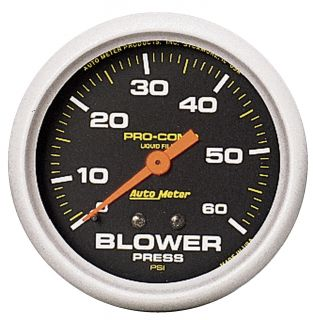 Auto Meter 5402 Pro Comp Liquid Filled Mechanical Blower Pressure Gauge