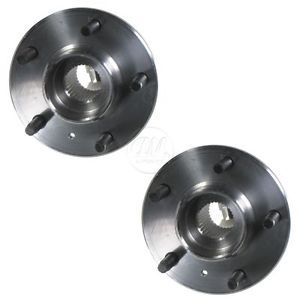 Front Wheel Hub Bearing Pair Set w ABS 5 Lug for Chevy Pontiac Cadillac Buick