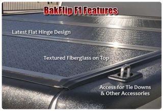 Bakflip F1 Hard Folding Tonneau Bed Cover 08 12 Ford F150 SB 5 5 Foot 72309