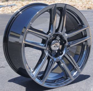 19x9 19x10 Laguna Seca Mustang ® 19 Wheels Rims Black Chrome 19""