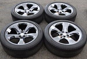 "20"" Dodge Charger Challenger Black Chrome Wheels Rims Tires Factory 2014'"