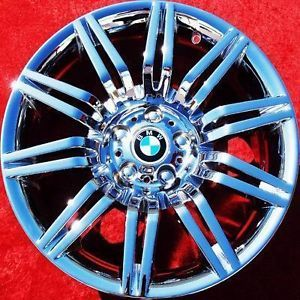 "Set of 4 New 19"" BMW 550i Sport E60 Chrome Wheels Rims M5 525i 530i 59554"