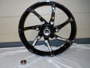 "Harley Davidson 19"" CVO Road Glide Black Chrome Wheel New 55070 11"