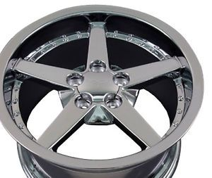 "18"" 8 5 10 5 Chrome C6 Corvette Deep Dish Wheels Rims Fit Camaro SS Firebird TA"