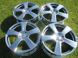 "4 18"" New Mercedes Benz E350 2011 2013 Sedan Chrome Wheels Rims"