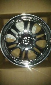 4 18x7 5 Devino 635 Chrome Wheels Rims 5x115 18 inch Buick Cadillac Chevy GMC