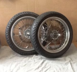 "KTM Supermoto 17"" Wheels Complete Behr Factory Rims Chrome with Rotors"