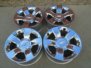 "20"" Chevy GMC Silverado Tahoe 1500 Chrome Plated Factory Wheels Rims 2014"