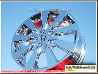 "Set of 4 New 17"" Honda Accord Chrome Wheels Rims Odyssey Prelude Civic 63919"
