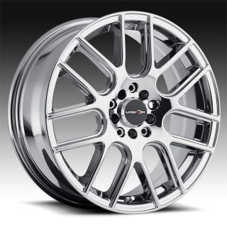 "17"" inch 4x100 4x4 5 Phantom Chrome PVD Wheels Rims 4 Lug Honda Nissan Toyota"