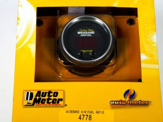 "Autometer Carbon Fiber Wideband Air Fuel Ratio Gauge 2 1 16"" 52mm Mixture Wide"