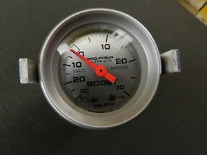 Auto Meter 4303 Ultra Lite Mechanical Boost Vacuum Gauge supercharger Turbo