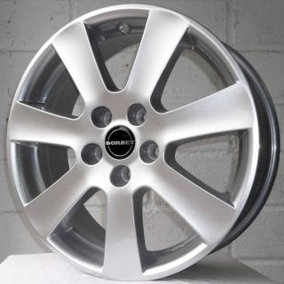 16 HONDA CIVIC TYPE R 2004 2007 BORBET CA SILVER ALLOY WHEELS 5x114