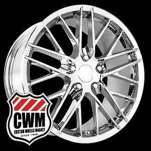 "18x8 5"" 19x10"" Corvette C6 ZR1 Style Chrome Wheels Rims Fit Corvette C6 2005"