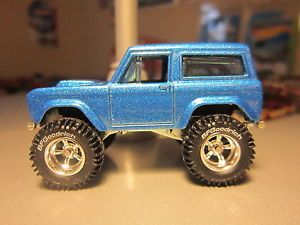 Custom 2013 Hot Wheels 67 Ford Bronco BF Goodrich Real Riders Ice Blue All Metal