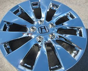 "Exchange Your Stock 4 2013 17"" Factory Honda Accord Chrome Wheels Rims 64047"