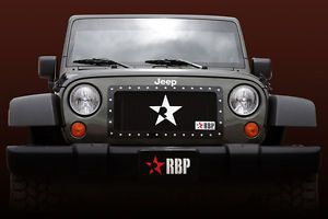 RBP 251483 Jeep Wrangler Main Billet Grille RX Series Black Truck Grill 1 PC