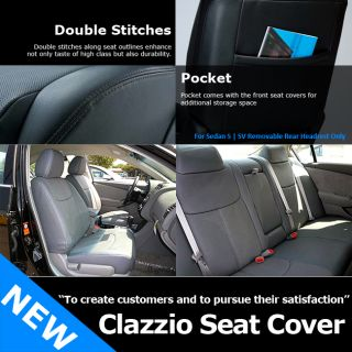 Clazzio Custom Perfect Fit Leather Seat Cover Tan for Nissan 2013 Altima 4DS SV