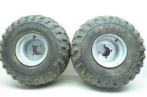00 Honda Rancher 350 Aftermarket Rear Wheels Tires TRX350TE 2x4