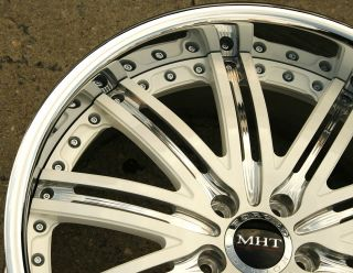 Dub Mirage Z12 2pc 20 x 9 0 10 White Rims Wheels Benz S430 S600 Stag 5H 36