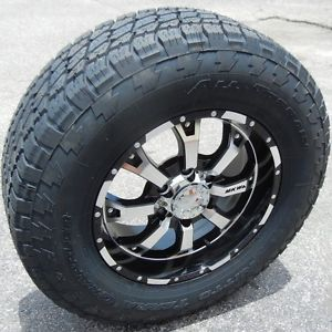 "17"" MKW MK46 Wheels Rims 265 70 Nitto Terra Grappler Chevy Silverado GMC Sierra"