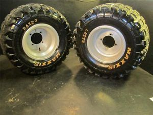 Rear Wheels Tires Pair at 20x11 9 6 Ply Mud All Terrain ATV Douglas Maxxis Used