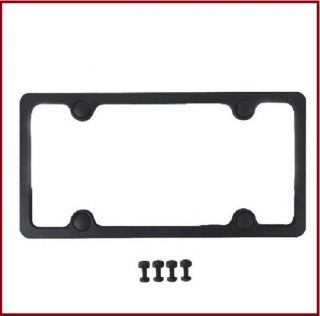Universal Front Rear Mounting Bracket ABS Black License Plate Tag Frame Holder